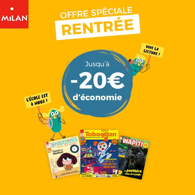 Jusqu'à -20€ d'économie + 5€ supplémentaires dès le 2e abonnement