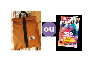 Le sac à dos ados ou le hors-séries Okapi 2019